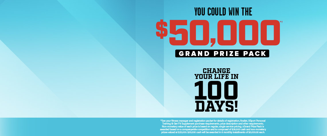 Get Fit Challenge $50,000 Grand Prize Package