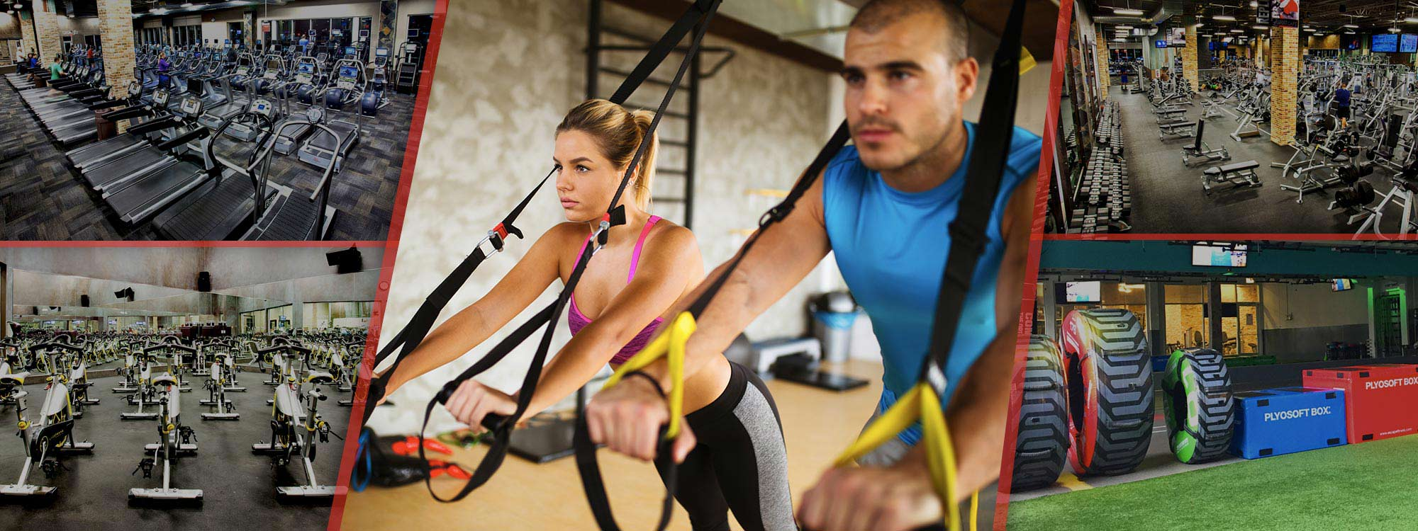 couple doing TRX at XSport Fitness