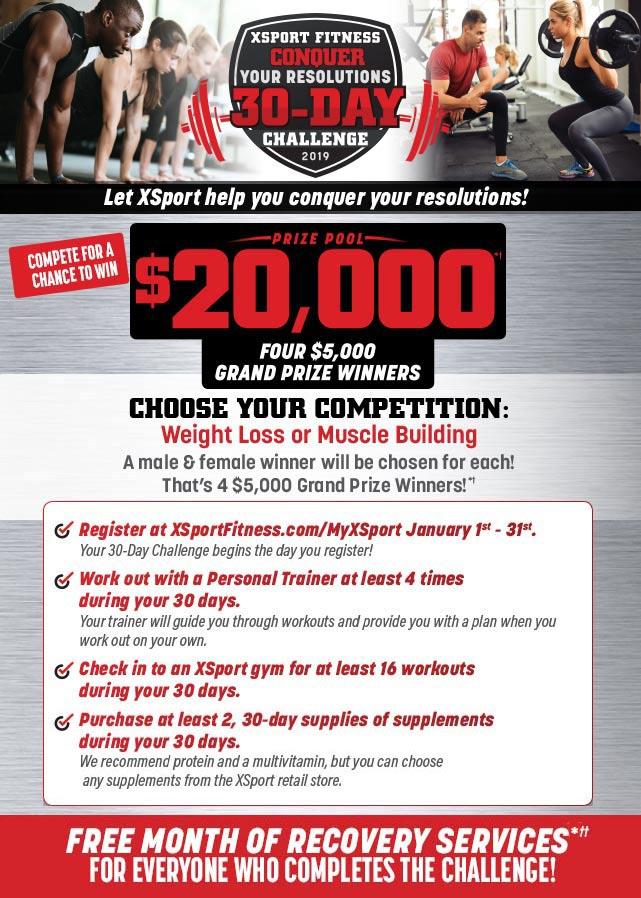30 Day Spring Break Body Challenge Xsport Fitness