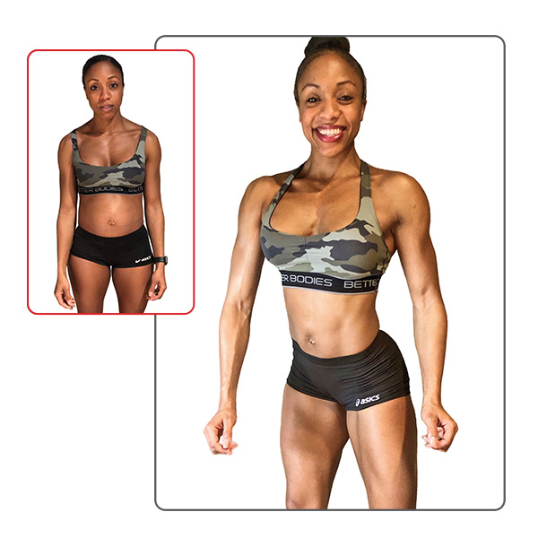 30-Day Challenge Women's Muscle Building Grand Prize Winner Before and After Images