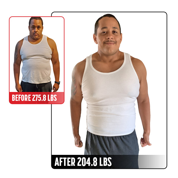 30-Day Challenge Men's Weight Loss Grand Prize Winner Before and After Images