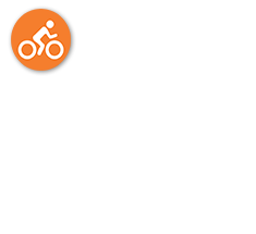 Live Well logo - Person on a Bicycle