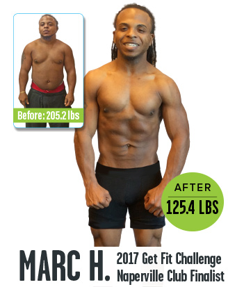 2017 Get Fit Challenge  Club Finalist Before and After images
