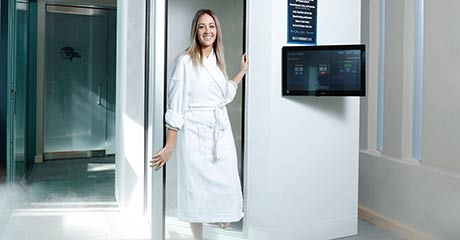 Cryotherapy - Woman in cryo booth