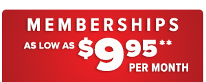memberships as low as 9.95 per month