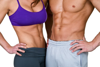 fit couple with strong abs