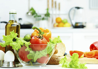 fresh food and vegetables