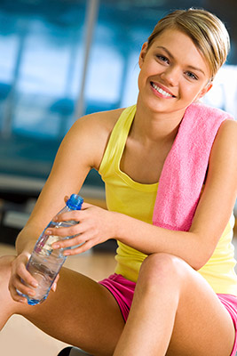 workout woman smiling