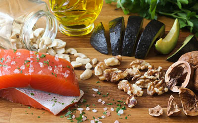 salmon and walnuts