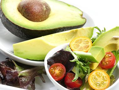 avocado and fresh veggies