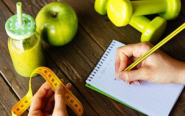 person planning diet