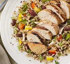 Grilled chicken with quinoa