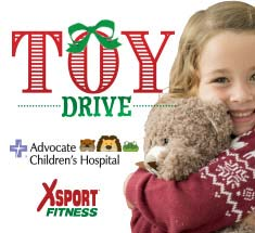 XSport Fitness Toy Drive to Benefit Advocate Children's Hospital