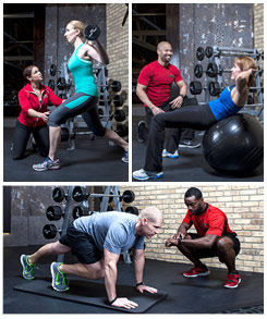 People working out with XSport Personal Trainers