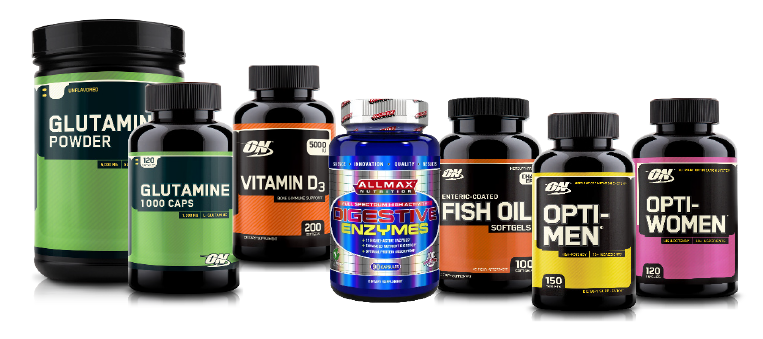 various healthy lifestyle supplements